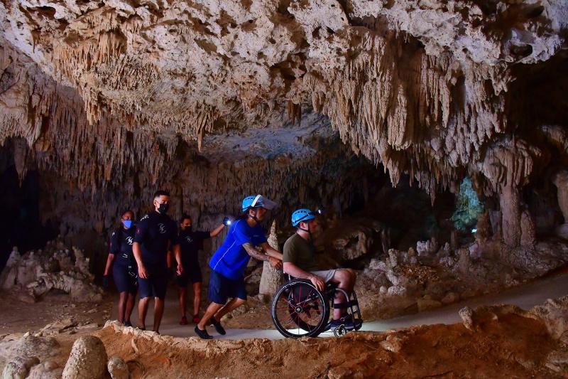 Underground dry cave path