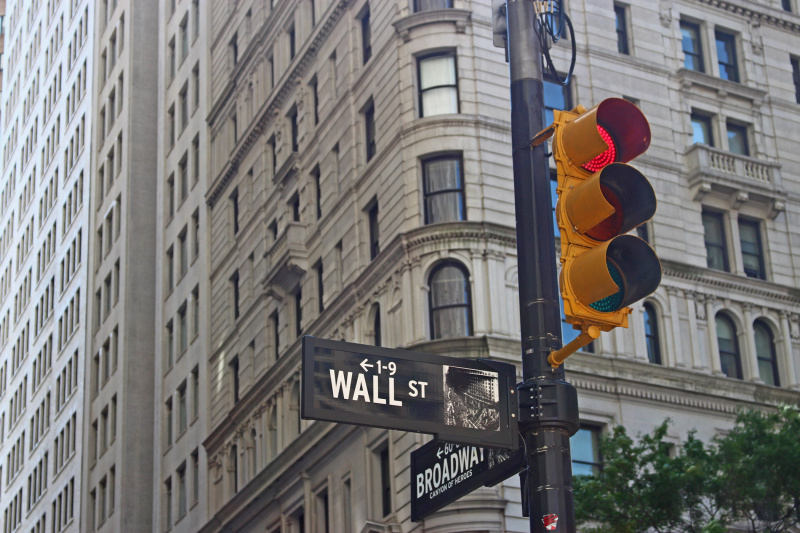 Wall Street is one of the busiest areas in Manhattan