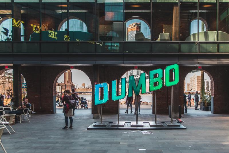 Dumbo neighborhood and outdoor plaza