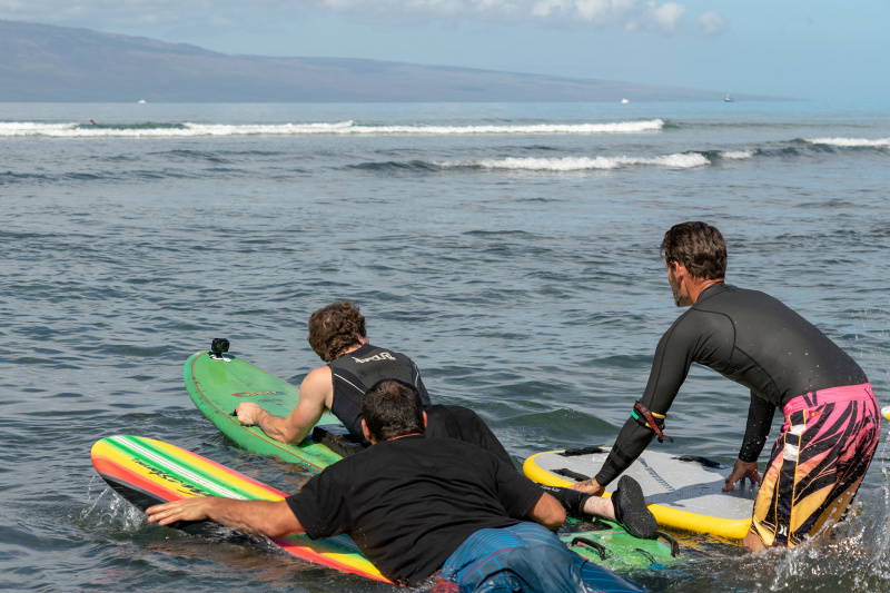 Assistance provided while doing adaptive surfing