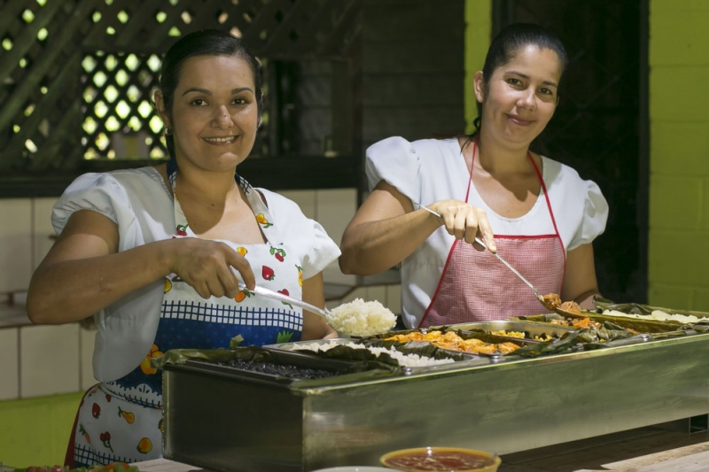 Arenal Vida Campesina serve traditional Costa Rican food wrapped in banana leaves