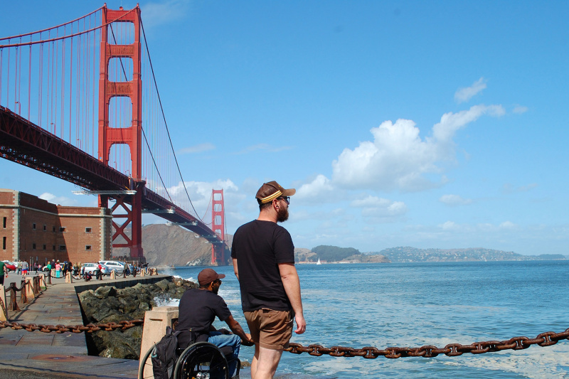 Fort Point with views of Golden Great Bridge