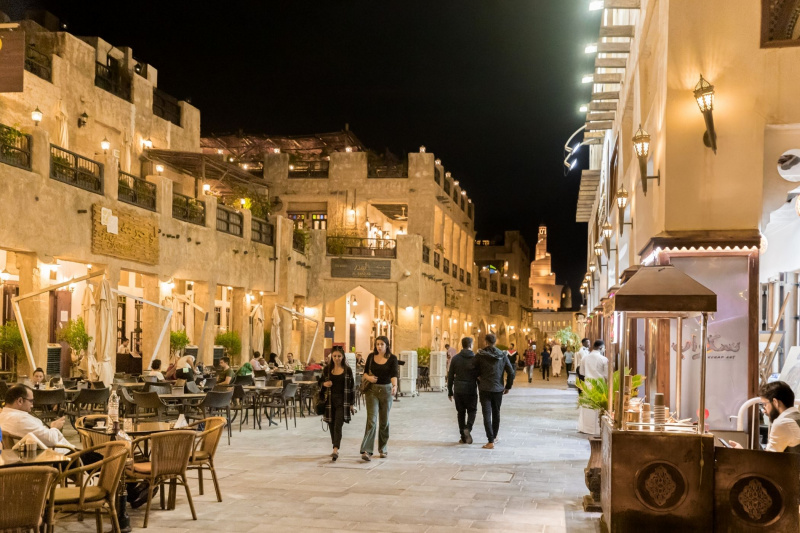 The Souq has many cafes and restaurants