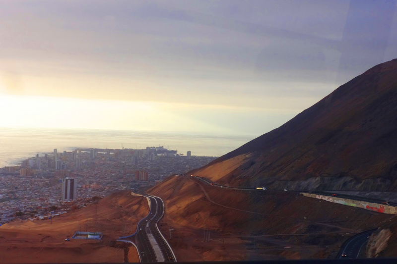 View from the surfing dunes of Iquique
