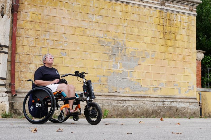 Wheel the World traveler explores the streets of Montecatini Terme