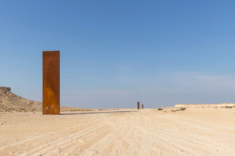 Richard Serra's East-West/West-East sculptures