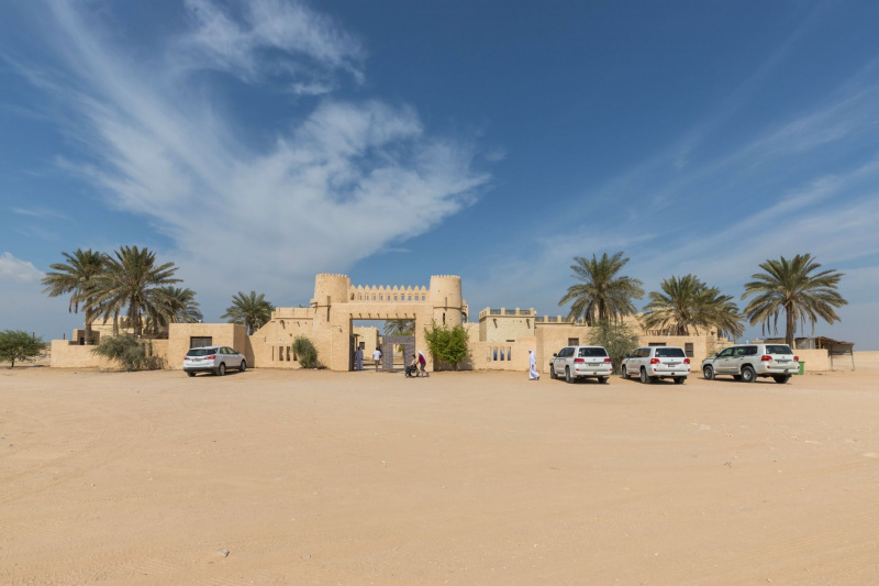 The traditional-style fortifications of Film City