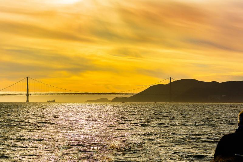 Sunset views of the Golden Gate Bridge