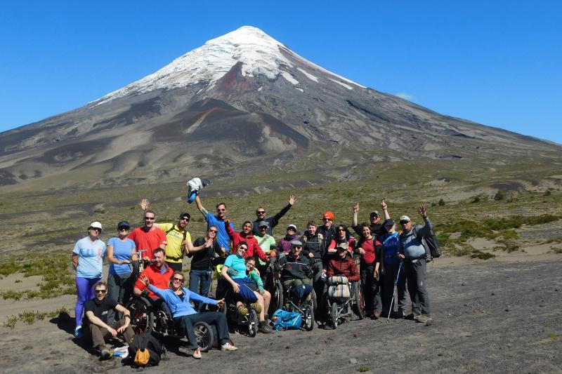 Hiking the Osorno Volcano.