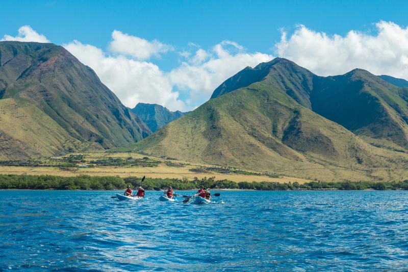 Kayak and snorkeling at Maui