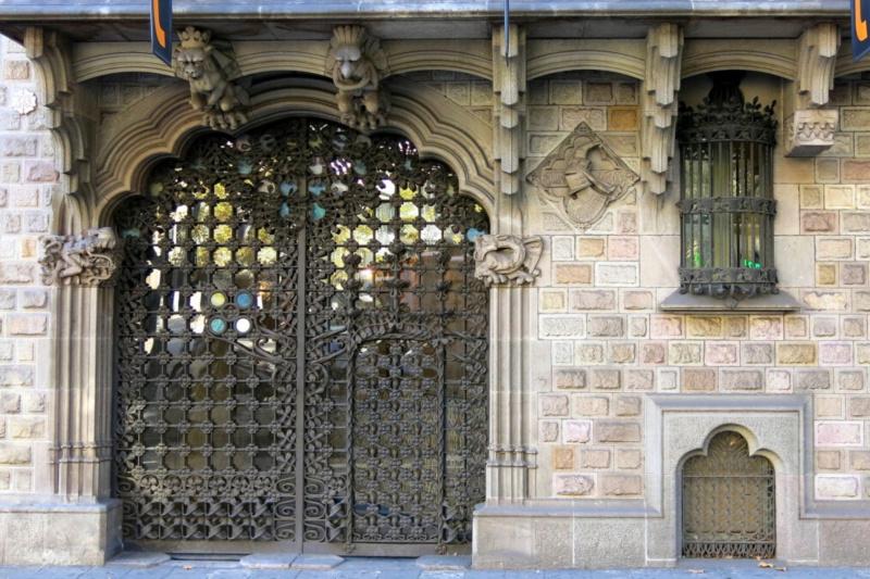 A doorway of the La Pedrera