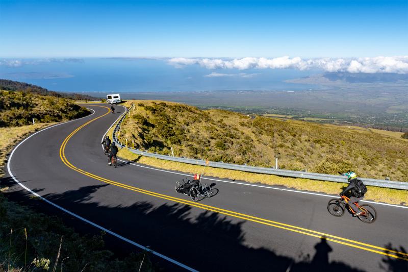 Haleakala Park urban cycling