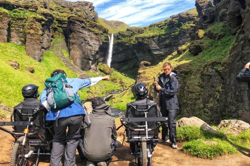 Exploring Iceland in a joëlette wheelchair