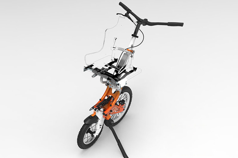 The joëlette kids wheelchair allows children with reduced mobility to hike and navigate uneven terrain