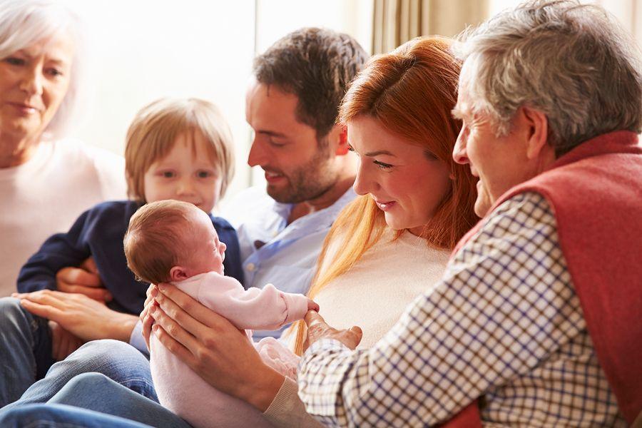 Kraamvisite bij baby van 4 weken oud