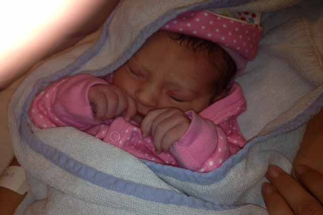 Dochter van Renee vlak naar haar bevalling