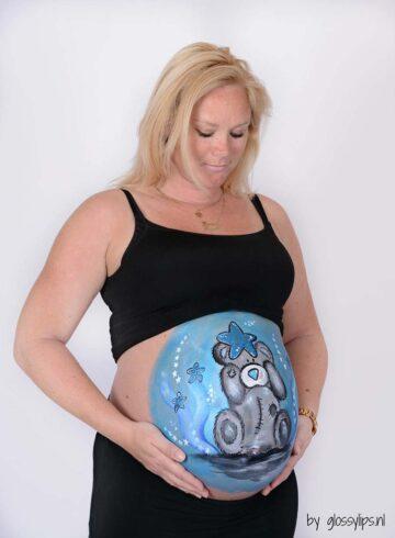 Het resultaat van de fotosessie met de bellypaint