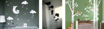 Ter inspiratie - creatieve muurdecoraties voor de babykamer
