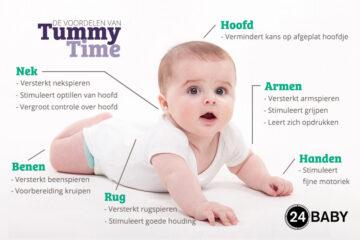 tummy time ontwikkeling baby