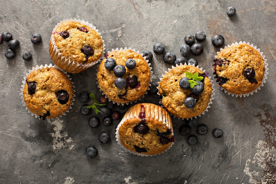 Blue berry muffins omdat vrouw 7 weken zwanger is en vreetbuien heeft