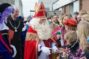 Sinterklaas bij de intocht in Enschede