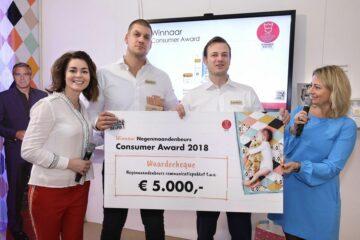 Uitreiking Innovation Consumer Award 2018 op de Negenmaandenbeurs