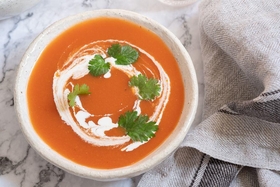 Kan je deze tomatensoep met crème fraîche eten als je zwanger bent?