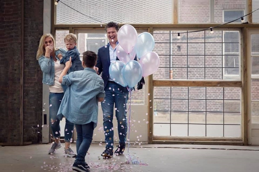 Gender reveal confettiballon - Dorien