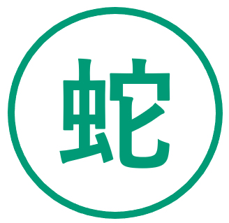Teken voor het jaar van de Slang in de Chinese horoscoop