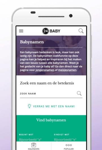 babynamen functie zwangerschaps app