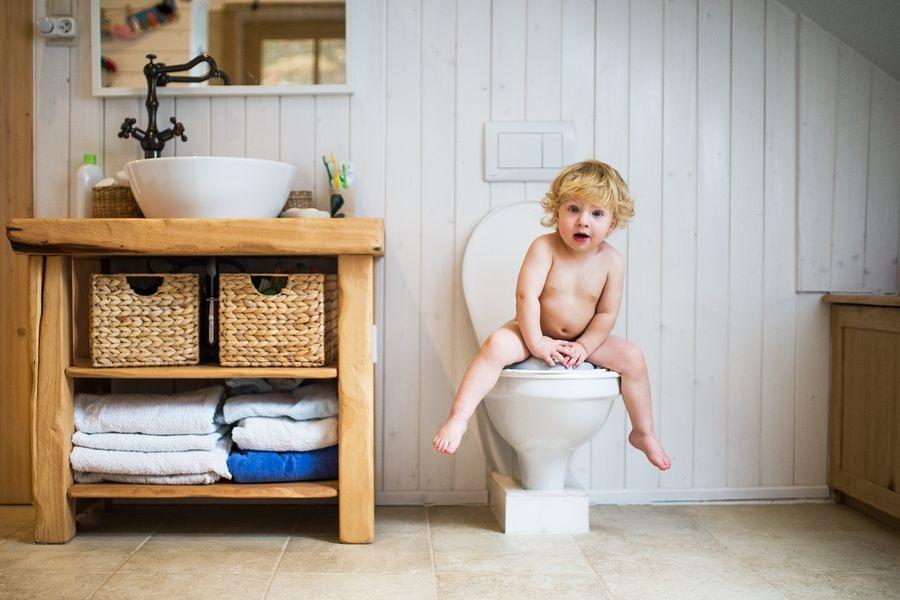 Peuter ontdekt wc tijdens zindelijkheidstraining