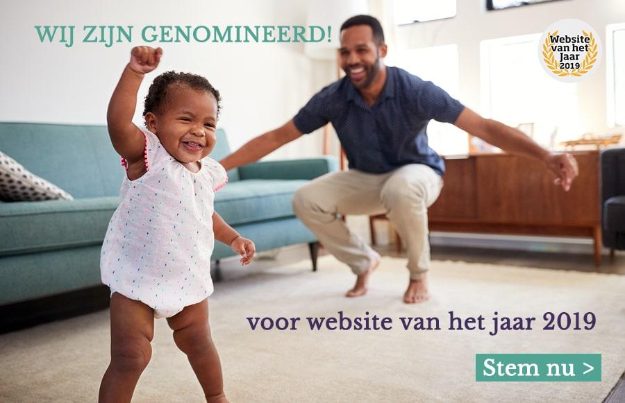 Baby viert dat 24Baby.nl is genomineerd voor Website van het Jaar 2019