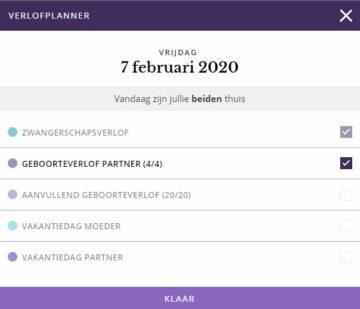 Verlofplanner voor aanpassen aanvullende partnerverlof