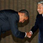 Emperor-Akihito-greets-Barack-Obama