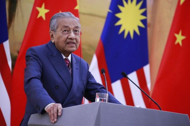 哭窮取消中資一帶一路,93歲馬來西亞首相馬哈迪...