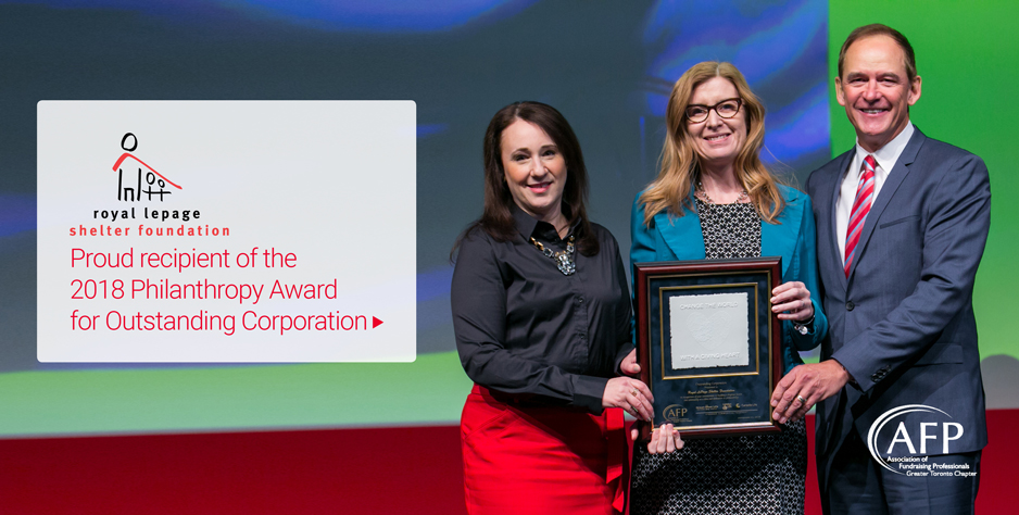 The Royal LePage Shelter Foundation honoured with a prestigious philanthropy award
