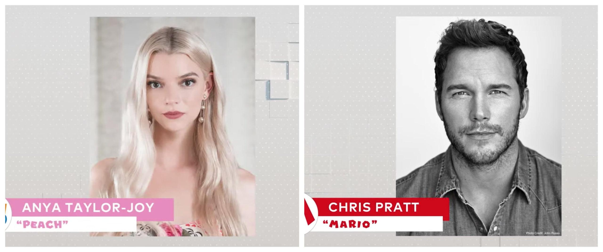 Chris Pratt,Anya Taylor- Joy serán parte de la película de Mario Bros