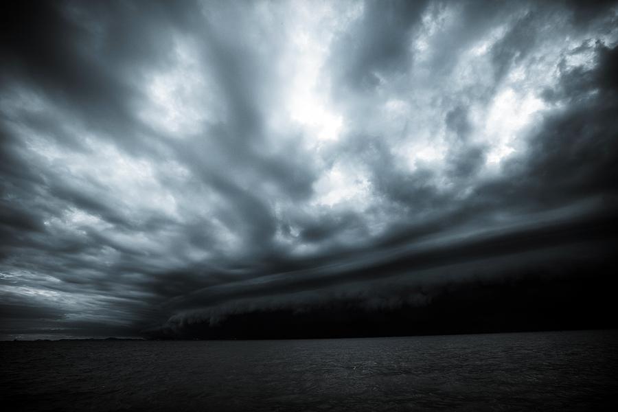 Así se ve la llegada del huracán Olaf en Los Cabos