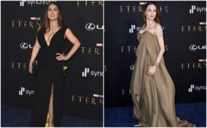 """Salma Hakey y Angelina Jolie impactan en la premier de """"The Eternals"""""""