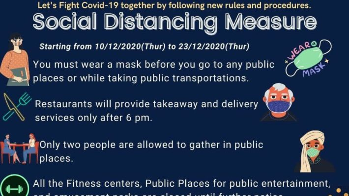 The social distancing measures are updated