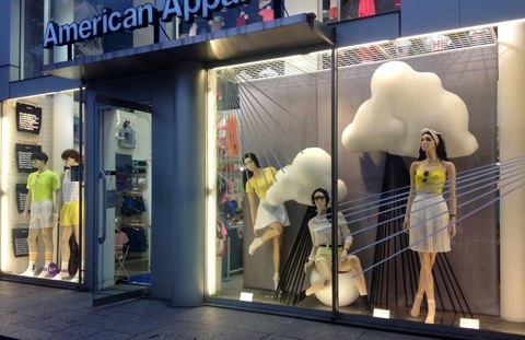 American-Apparel-rainy-season-windows-by-Lena-Shockley-Japan
