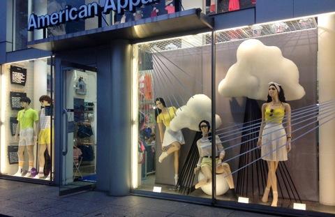 American-Apparel-rainy-season-windows-by-Lena-Shockley-Japan