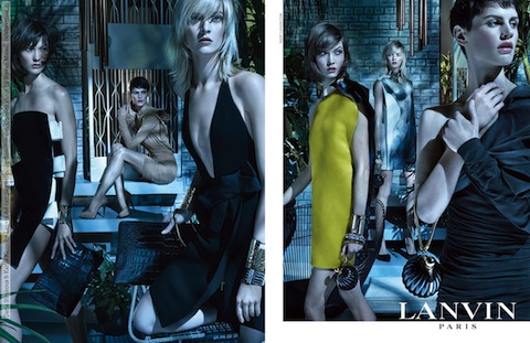 Daria Strokous & Karlie Kloss for Lanvin Ad campaign (Spring-Summer 2013) photo shoot by Steven Meisel