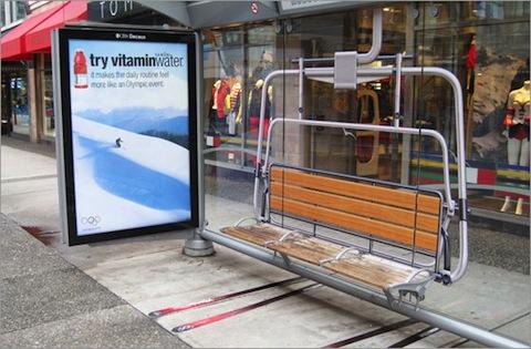 ski lift bus stop
