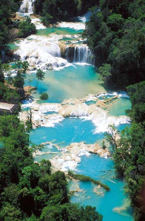 Chiapas, Tumbala, Agua Azul Waterfalls 5 - Photo by Secretaria de Turismo de Chiapas