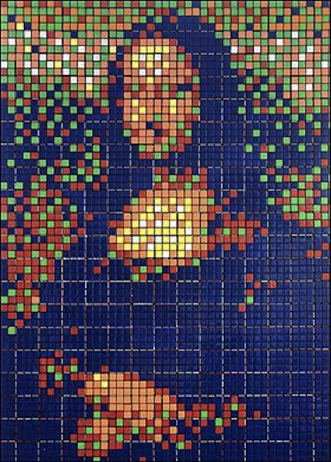 Mosaico-de-Cubo-Rubik-de-Mona-Lisa