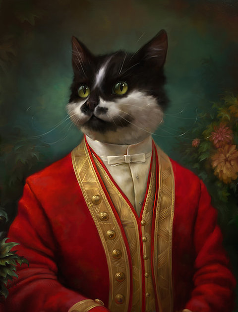 the_hermitage_court_waiter_cat_by_eldarzakirov-d6bnpue