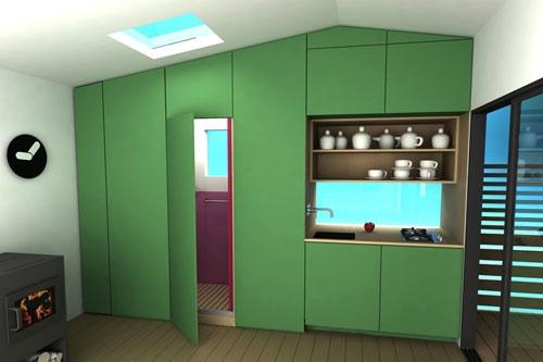 Casas minimalistas para vacacionar se construyen en dos for Mini casa minimalista