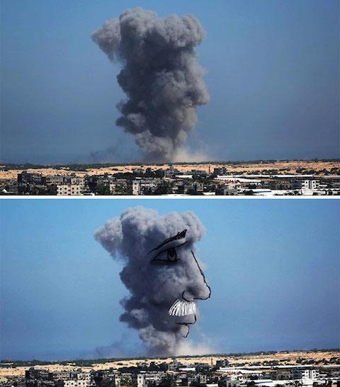 gaza-israel-rocket-strike-smoke-art-22