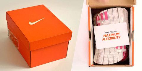caja nike zapatos